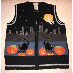 Vintage Halloween Sweater Vest